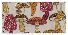 Mushroom Pattern Hand Towel