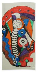 Mushroom Powered Engine 01 - Bellingham - Lewisham, Bath Towel by Mudiama Kammoh