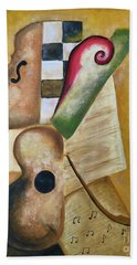 Music Abstract  Hand Towel