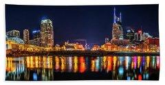 Music City Skyline Hand Towel