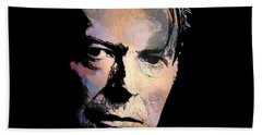 Hand Towel featuring the painting Music Legend. by Andrzej Szczerski