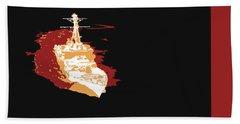 Hand Towel featuring the digital art Music Notes 11 by David Bridburg