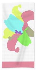 Hand Towel featuring the digital art Music Notes 12 by David Bridburg