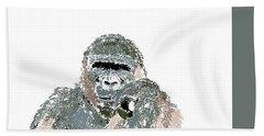 Hand Towel featuring the digital art Music Notes 23 by David Bridburg