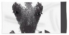 Hand Towel featuring the digital art Music Notes 28 by David Bridburg