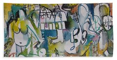 Musical Abstraction  Hand Towel