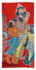 Bath Towel featuring the painting Musical Concert by Ragunath Venkatraman