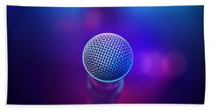 Musical Microphone On Stage Hand Towel