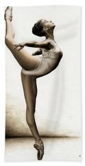 Musing Dancer Bath Towel