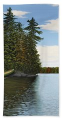 Muskoka Shores Hand Towel by Kenneth M  Kirsch