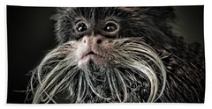 Mustache Monkey IIi Altered Bath Towel