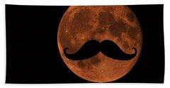 Mustache Moon Bath Towel