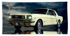 Bath Towel featuring the photograph Mustang by Steven Agius