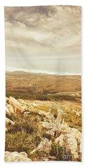 Muted Mountain Views Hand Towel