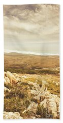 Muted Mountain Views Hand Towel