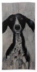 Mutts Original Dog Portrait Painting Hand Towel