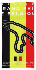 My 2017 Grand Prix De Belgique Minimal Poster Bath Towel