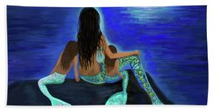 Bath Towel featuring the painting My Adorable Girls by Leslie Allen