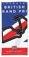 My British Grand Prix Minimal Poster Bath Towel