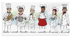 My Chefs In A Row-i Hand Towel