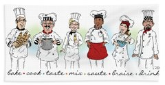 My Chefs In A Row-i Bath Towel
