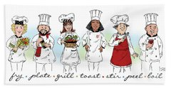 My Chefs In A Row-ii Hand Towel