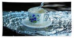 My Cup Overflow Hand Towel by Rose-Marie Karlsen