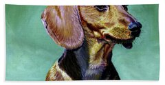 My Daschund Bath Towel by Stan Hamilton