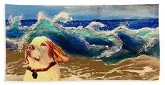 My Dog And The Sea #1 - Beagle Hand Towel