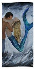 Bath Towel featuring the painting My Dream Mermaid by Leslie Allen