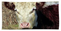 My Favorite Cow Hand Towel by Tina M Wenger