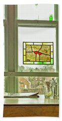 Hand Towel featuring the photograph My Favourite Cafe by Anne Kotan
