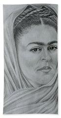 My Frida... Hand Towel by Edgar Torres