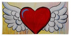 My Heart Has Wings Bath Towel