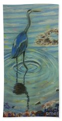 My Heron Bath Towel by Rae  Smith