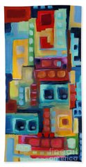 Hand Towel featuring the painting My Jazz N Blues 3 by Holly Carmichael