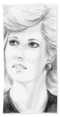 My Lady D Hand Towel by Edgar Torres