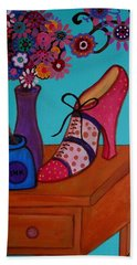 Bath Towel featuring the painting My Love by Pristine Cartera Turkus