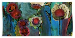 Hand Towel featuring the painting My Mother's Garden by Susan Stone