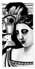 My Outing With A Young Woman By Picasso Hand Towel