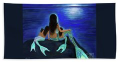 Bath Towel featuring the painting My Precious Bunch by Leslie Allen