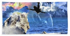 Hand Towel featuring the digital art My Savior by Dolores Develde