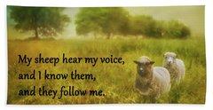 My Sheep Hear My Voice Hand Towel