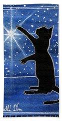 My Shinning Star - Christmas Cat Bath Towel