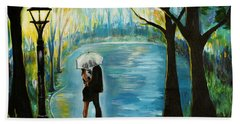 Hand Towel featuring the painting My Soulmate by Leslie Allen