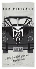 My Superhero-vw-t1-punisher Hand Towel