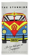 My Superhero-vw-t1-supermanmy Superhero-vw-t1-wonder Woman Hand Towel