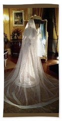 Hand Towel featuring the photograph My Wedding Gown by Gary Smith