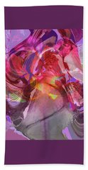 My Wild Iris Glows - Floral Abstract - Photography Hand Towel