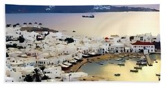 Mykonos Greece Bath Towel